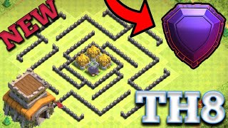 *NEW* Best TH8 Base Layout 2019 Anti 1 Star With Replay Proof Best Town Hall 8 Base