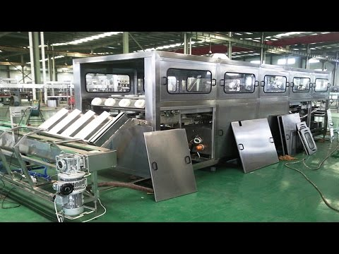 5 gallons barrel water filling production line washing filler capper packaging Wasser-Abfüllanlage