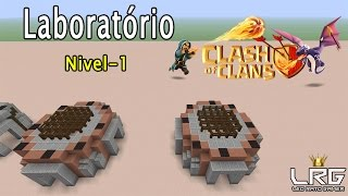 CLASH OF CLANS NO MINECRAFT, Como Fazer o Laboratório Nível-1 No Minecraft