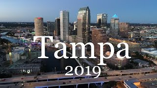 Tampa and Ybor City Aerial & Ground Tour in 4k