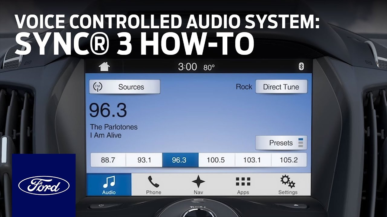 SYNC 3 Voice Controlled Audio System | SYNC 3 How-To | Ford