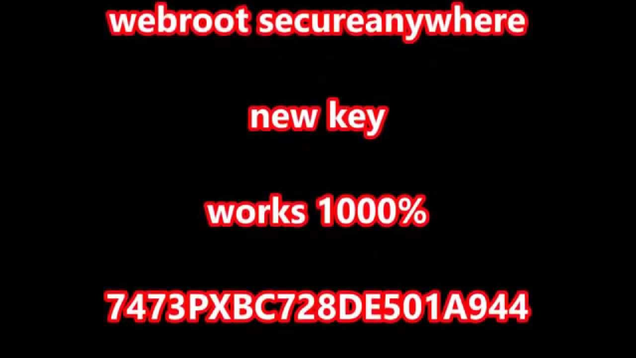 webroot secureanywhere antivirus keycode 2017