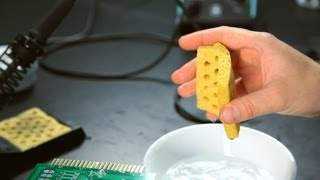 How Is a Wet Sponge Used? | Soldering