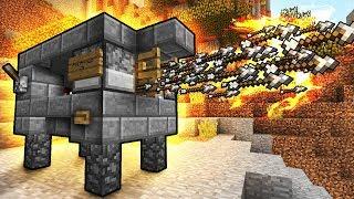 видео: САМАЯ КРУТАЯ ПУШКА в Майнкрафт ПЕ Редстоун механизм для нуба видео мультик нуб и про в Minecraft PE