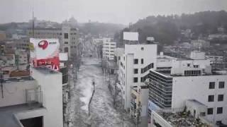 Tsunami IN  SHIOGAMA CITY  JAPAN 2011 MARCH