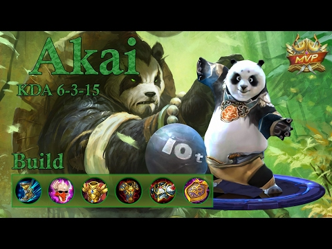 Mobile Legends: Akai MVP, the aggressive tank!