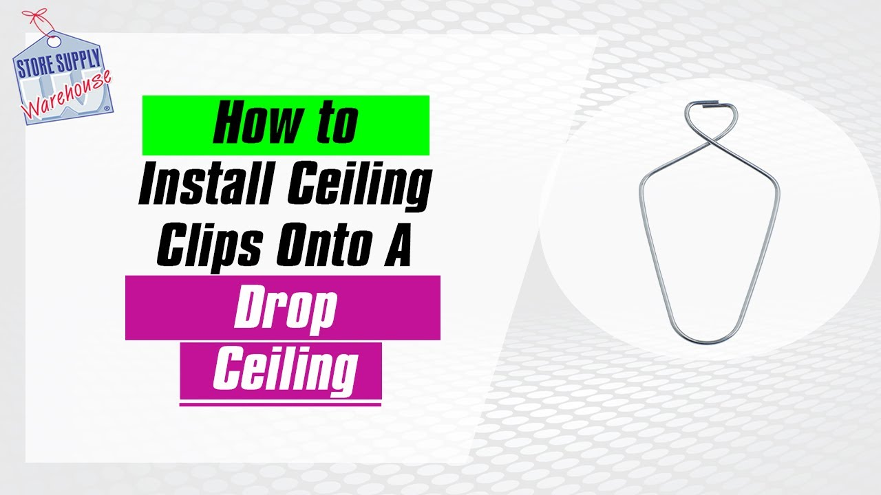 How to use our ceiling clips youtube how to use our ceiling clips dailygadgetfo Choice Image