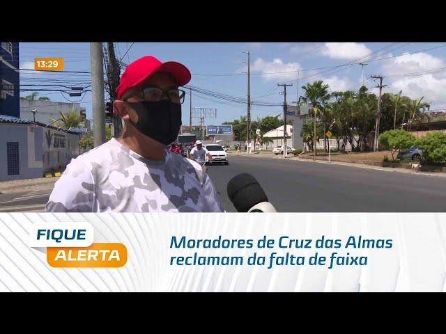 Moradores de Cruz das Almas reclamam da falta de faixa de pedestres na Gustavo Paiva
