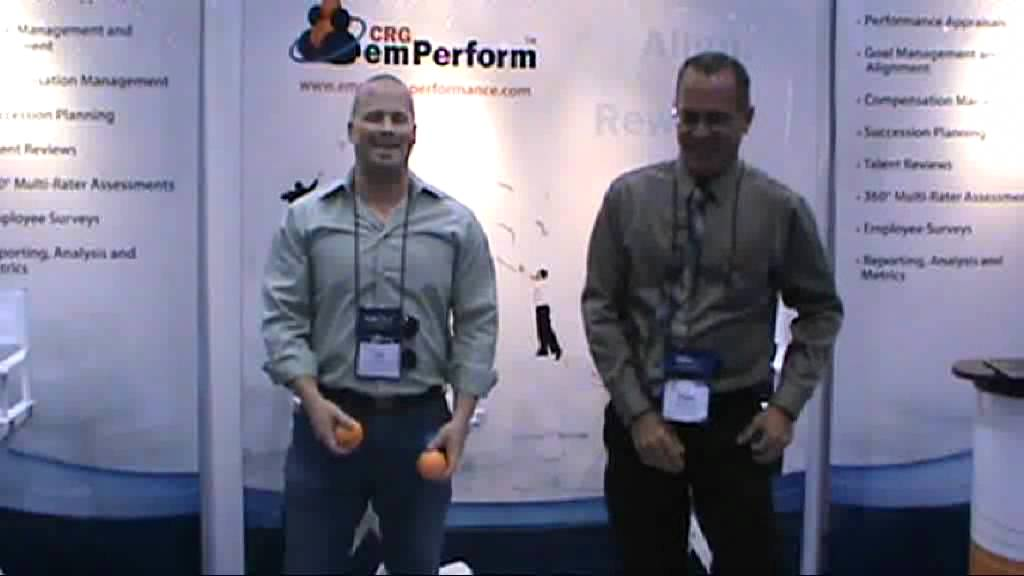Juggling in the emPerform Booth at SHRM 2011