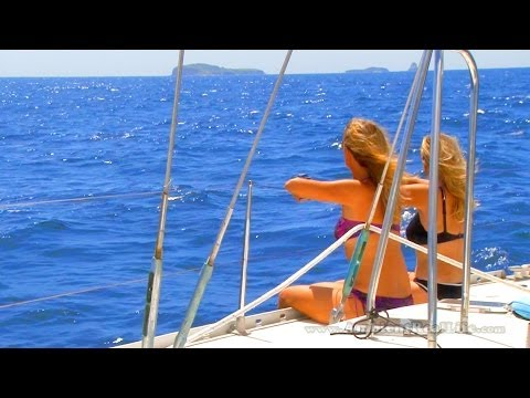 CARIBBEAN Sailing - The Perfect Day of Sailing w/all Girl Crew, in the Grenadines - Part 3 of 5