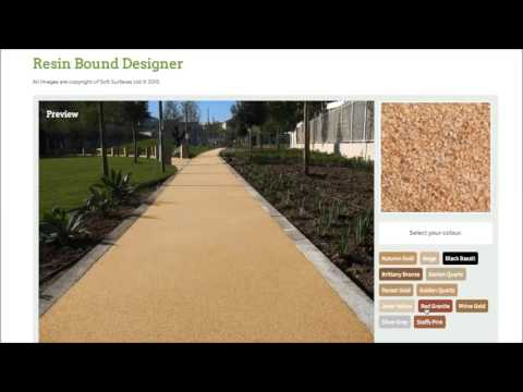 Designing Resin Bound Stone Surface with Colour Tool