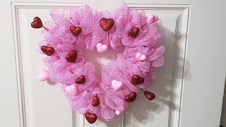 #valentines #dollartree #wreath  DIY Valentines wreath