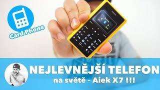 Jaký je NEJLEVNĚJŠÍ telefon na světě... ??? (Aiek X7 Cardphone Review)