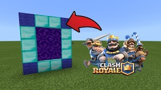 How To Make a Portal to the Clash Royale Dimension in MCPE (Minecraft PE)