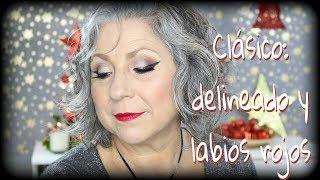 CLÁSICO EN PIEL MADURA: DELINEADO Y LABIOS ROJOS // Makeupmasde40