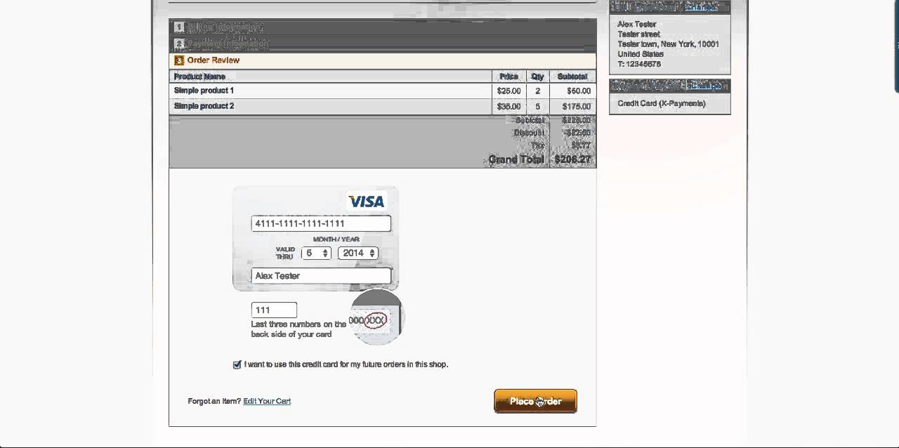 Magento checkout with iFrame credit card form provided by X-Payments ...