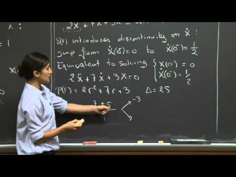 Unit Step and Impulse Response | MIT 18.03SC Differential Equations, Fall 2011