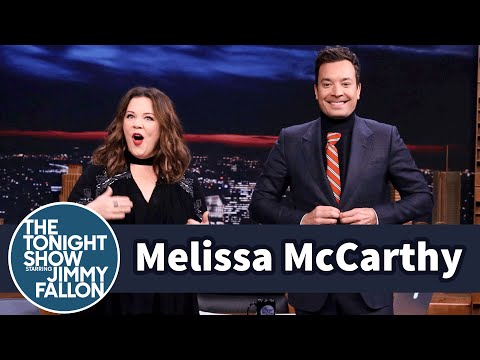 Melissa McCarthy Gifts Jimmy a Turtle-Tie Dickey