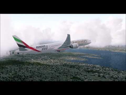 FSX/P3D Seattle Arrival Emirates 1000th 777[VATSIM]