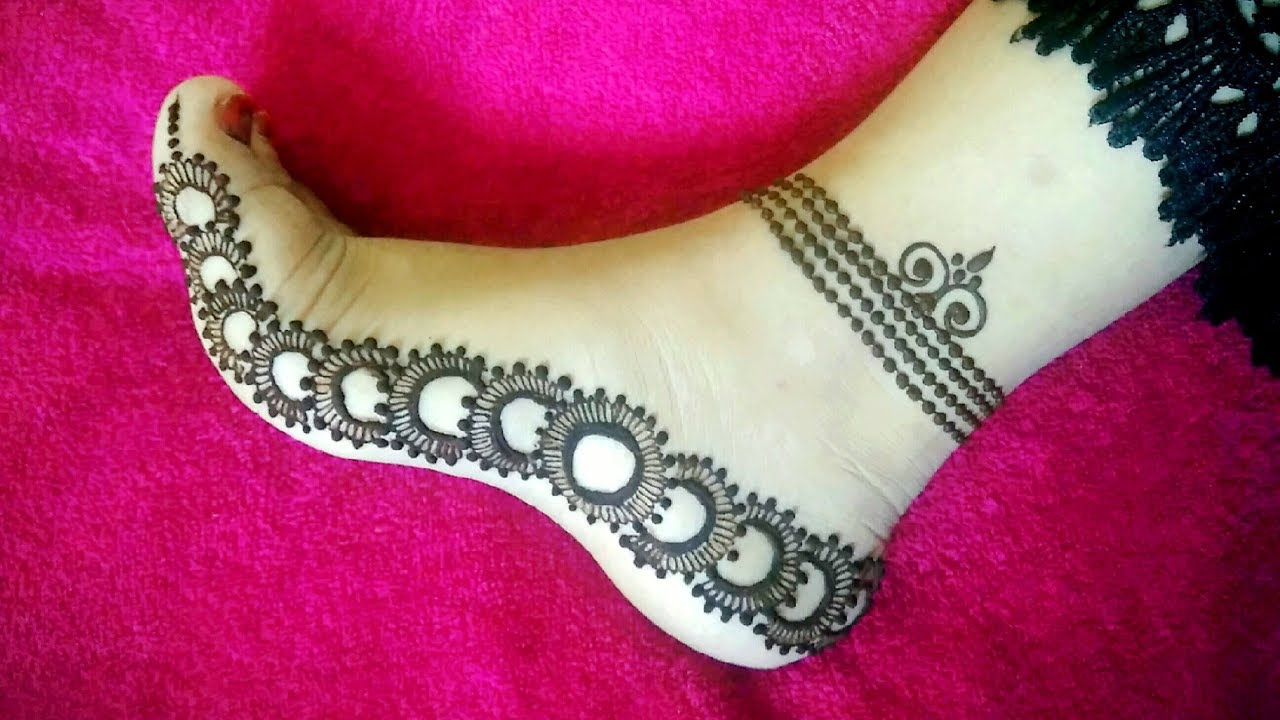 mehndi designs for legs payal