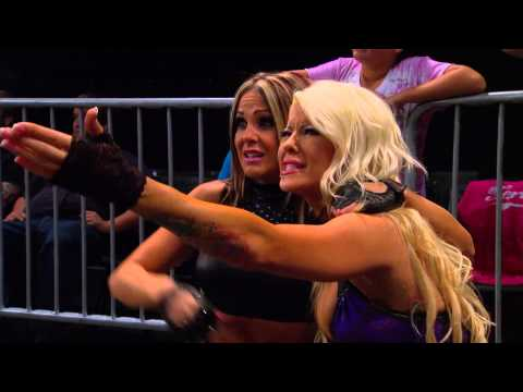Taryn Terrell vs Madison Rayne vs Angelina Love for Knockouts contendership (Oct. 8, 2014)