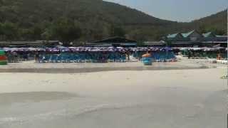 Таиланд (Thailand) о. Ко Ларн, пляж Tawaen(Один из самых лучших и чистых пляжей на острове Ко Ларн, очень хорошие кафе, можно кушать все и не бояться..., 2012-03-29T11:48:15.000Z)