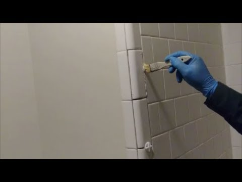 how to install bull nose trim tiles on outside corner of shower wall step by step