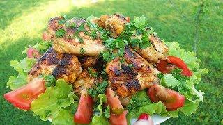 Шашлык Куриные КРЫЛЬЯ на МАНГАЛЕ в самом вкусном маринаде.  Шашлык из курицы в медово-соевом соусе