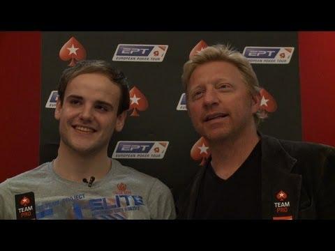 """""""Poker-Brüder"""" Pius Heinz und Boris Becker beim EPT in Berlin"""
