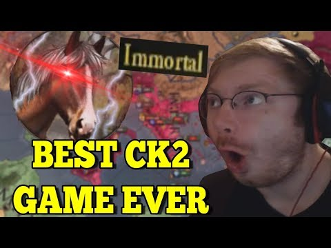 BEST CK2 GAME EVER! IMMORTAL GOD-EMPEROR OF SPARTA! - CK2 Holy Fury