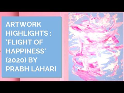 "Artwork Highlights : ""Flight of Happiness"" (2020) by Prabh Lahari | Inner Joy Art Gallery, Malaysia"