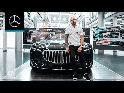 Lewis Hamilton at the Mercedes-Benz Design Headquarter