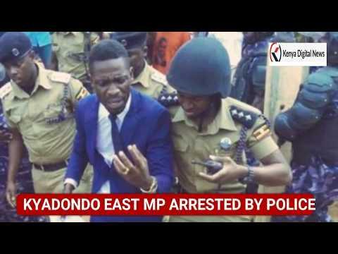 BOBI WINE VIOLENTLY ARRESTED BY UGANDA POLICE IN BUSABALA