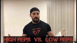 So whats better Low reps or High reps? (my take on it)