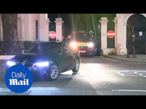 Police Escort Russian Diplomats From Embassy In London - Daily Mail