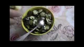Салат из огурцов с майонезом