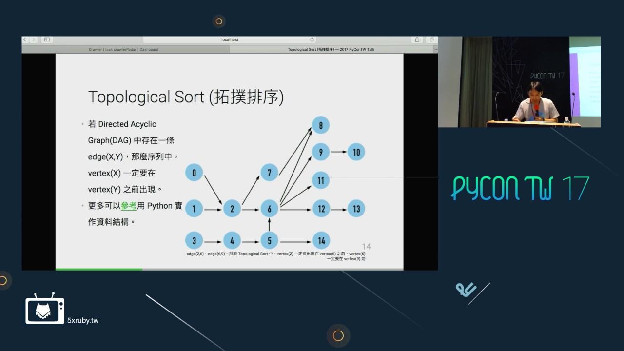 Image from Yi-Chieh Chen - 用 Django 建立一個可以設定爬蟲排程任務與監控的網站 - PyConTW2017