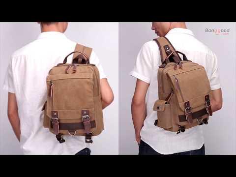 Men Women Leaper Canvas Messenger Bag Sling Bag Cross Body Bag Shoulder Bag - Black 2