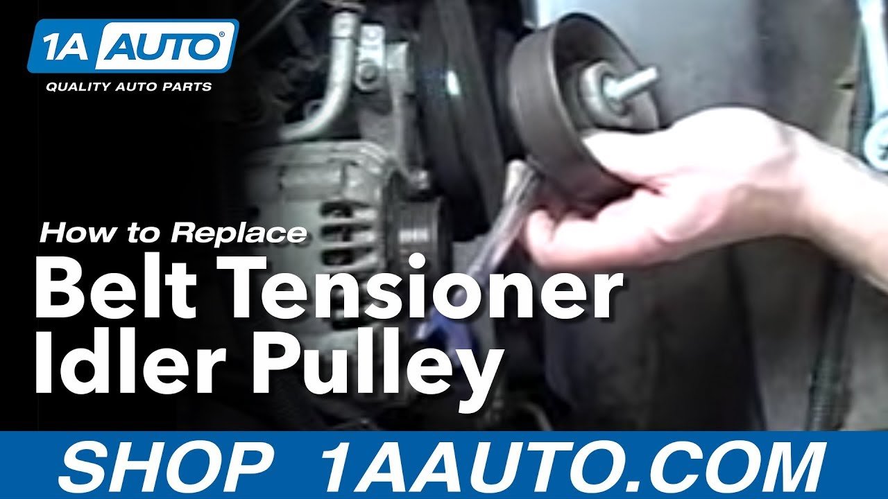 how to replace belt tensioner 92 99 chevy suburban [ 1280 x 720 Pixel ]