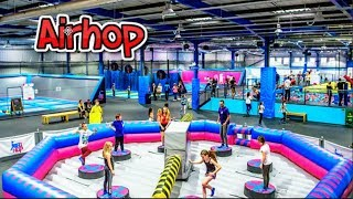 We went to a trampoline park.