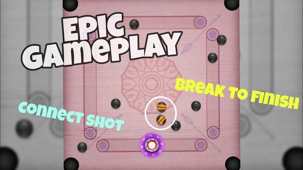 Epic gameplay ▶️Break to finish ➕Indirect shots ↔️Carrom Pool Partha