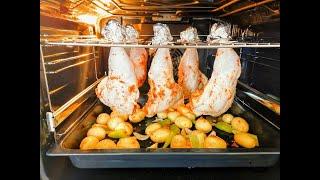 Выглядит БЕЗУМНО но это лучший способ приготовить окорочка с картошкой в духовке