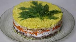 Вкусный Салат МИМОЗА с Яблоком | к праздничному столу