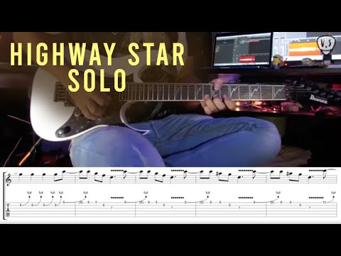 Deep Purple - Highway Star (Solo) - Guitar Lesson With Tab