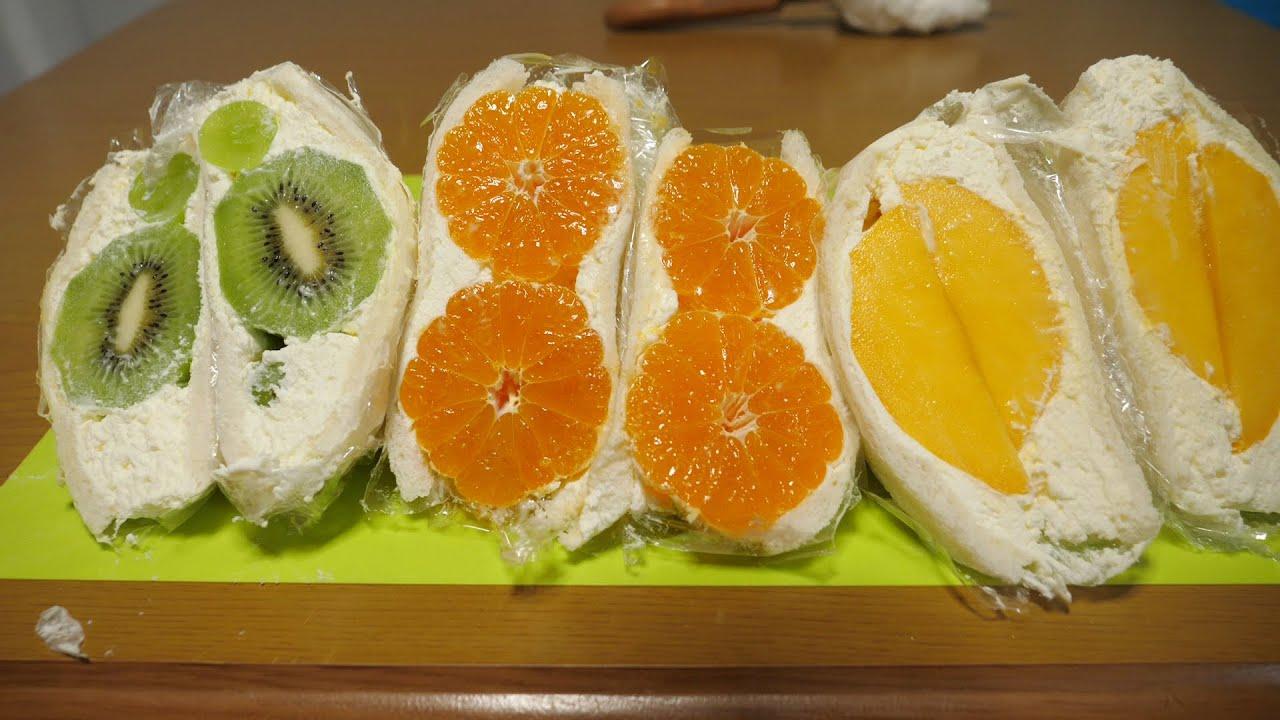 朝ごはん作ってみた『生フルーツサンド』
