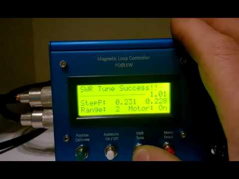Magnetic loop controller SWR tune
