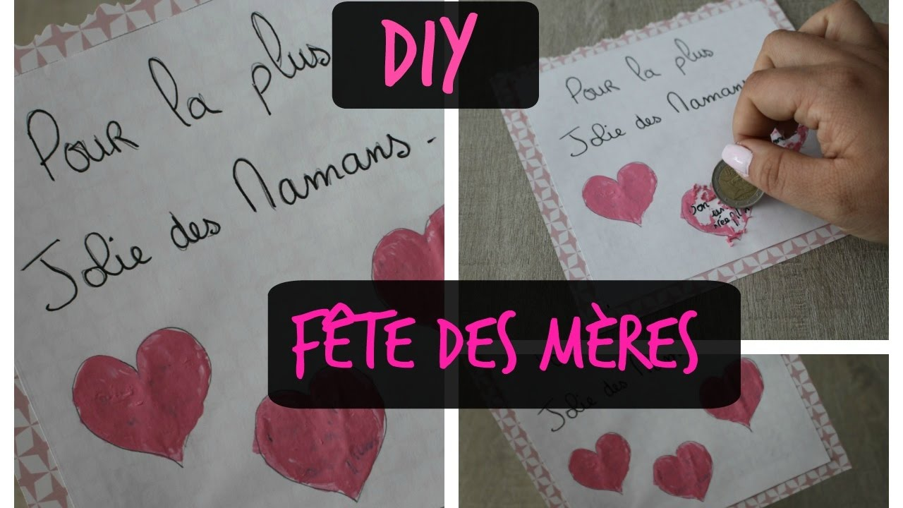 Diy Fête Des Mères Facile Carte Surprise à Gratter Youtube