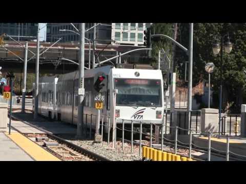 VTA Light Rail - Kinki Sharyo  MV-W Line #971 Departing San Fernando