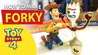 Toy Story 4 Forky DIY Handcraft Guide/ Handmade Toy for Kid
