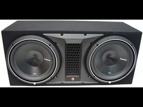 UNBOXING DUAL ROCKFORD FOSGATE P3S 12 WITH VENTED ENCLOSER